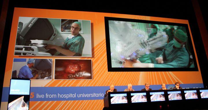 Congres met live robot surgery in Bilbao