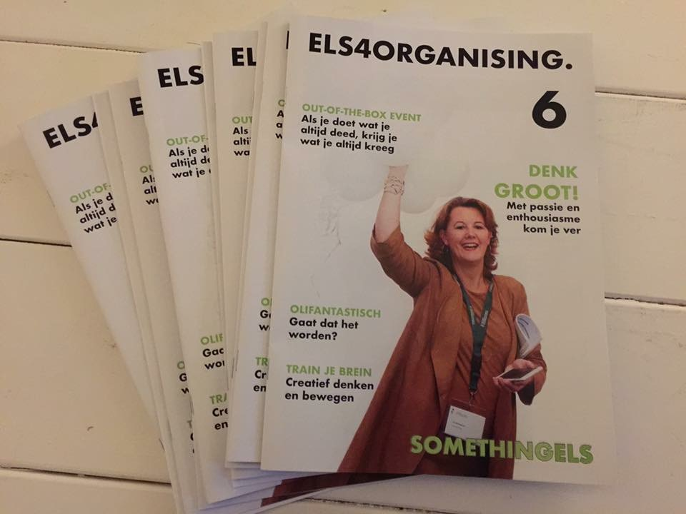 Naast LINDA. magazine, nu ook magazine ELS4ORGANISING.