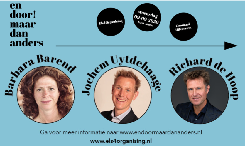 (Nederlands) EN DOOR! Maar dan anders – SomethingELS event 9 september 2020